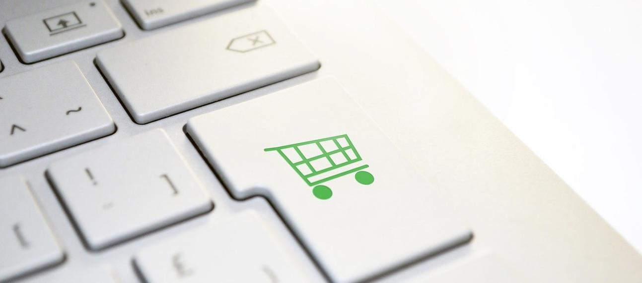 shopping trolley pictured on the return key.