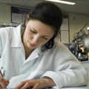 young scientist writing