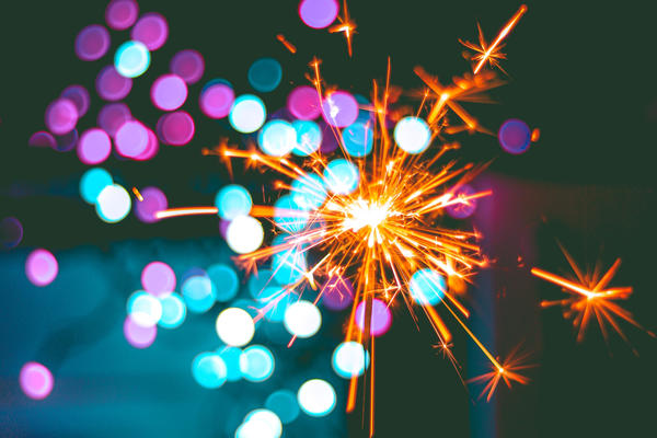 Sparkler and pretty lights indicating celebration - Photo by Hasan Albari on Pexels