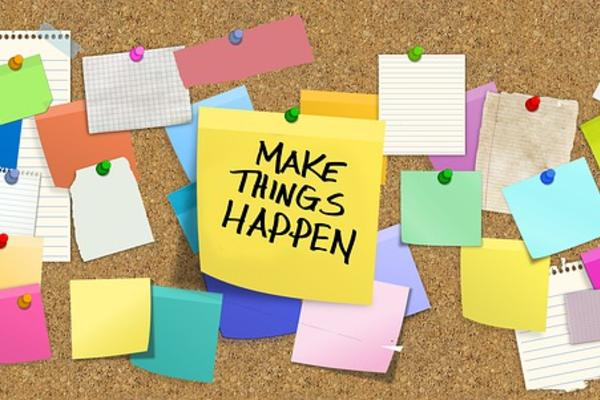 Bulletin board - Make things happen (Image by Gerd Altmann on Pixabay)