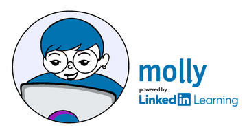 Molly logo - refers to Linkedin Learning