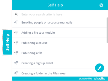 WhatFix image showing 'self help' menu